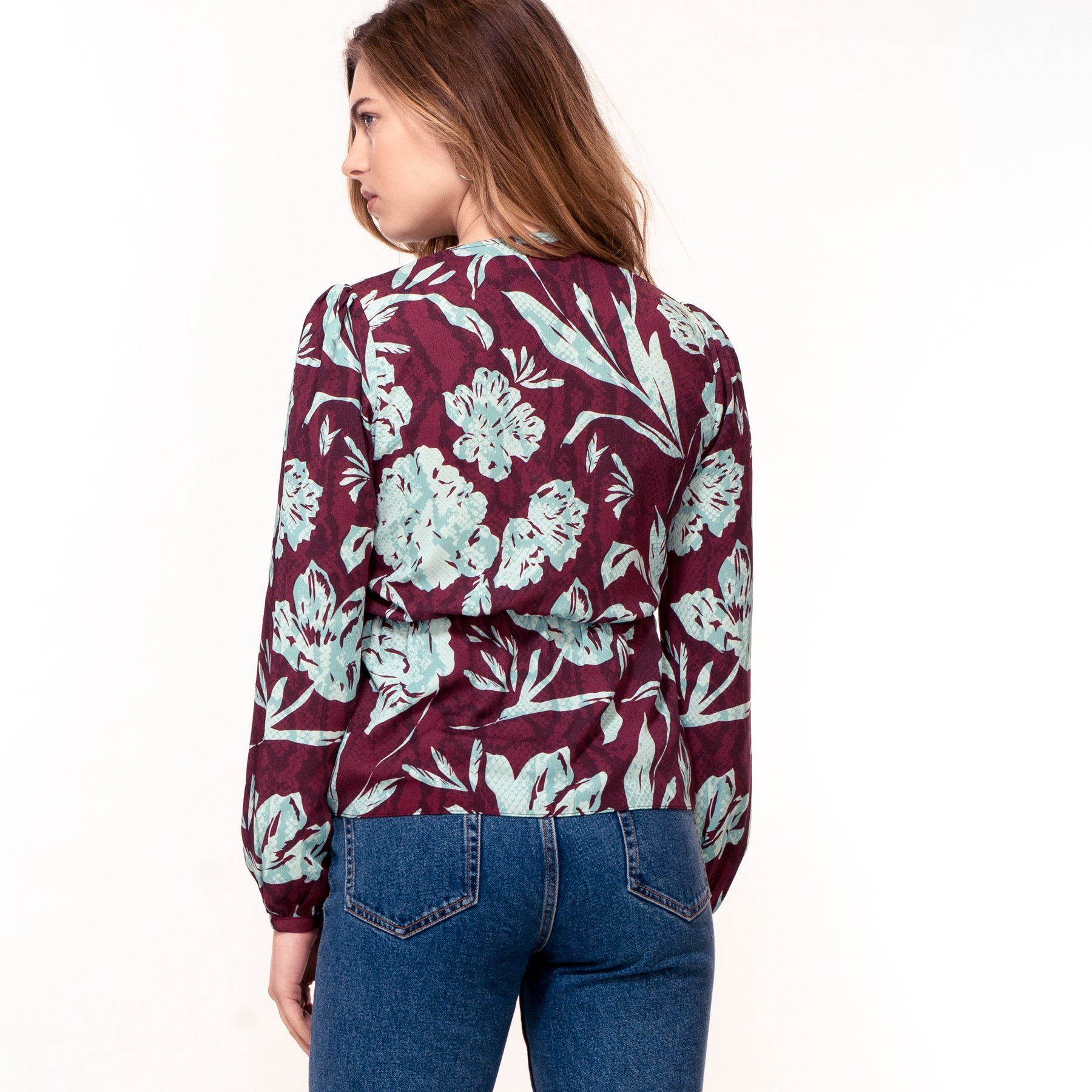 Purple Floral Snakeskin Print Top (Pre-Order) - Women's Tops - Hide The Label - Naiise