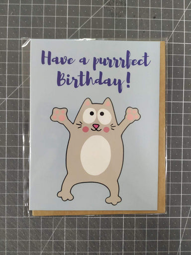 Purrrfect Card Birthday Cards Fevrier Designs