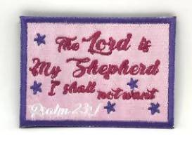The Lord is My Shepherd I shall not want Verse-It Velcro Morale Patch - Sticker Patches - The Super Blessed - Naiise
