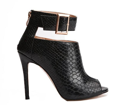 Leska Snake Skin High Heels Boot Heels - Women Shoes - Glamorbit - Naiise