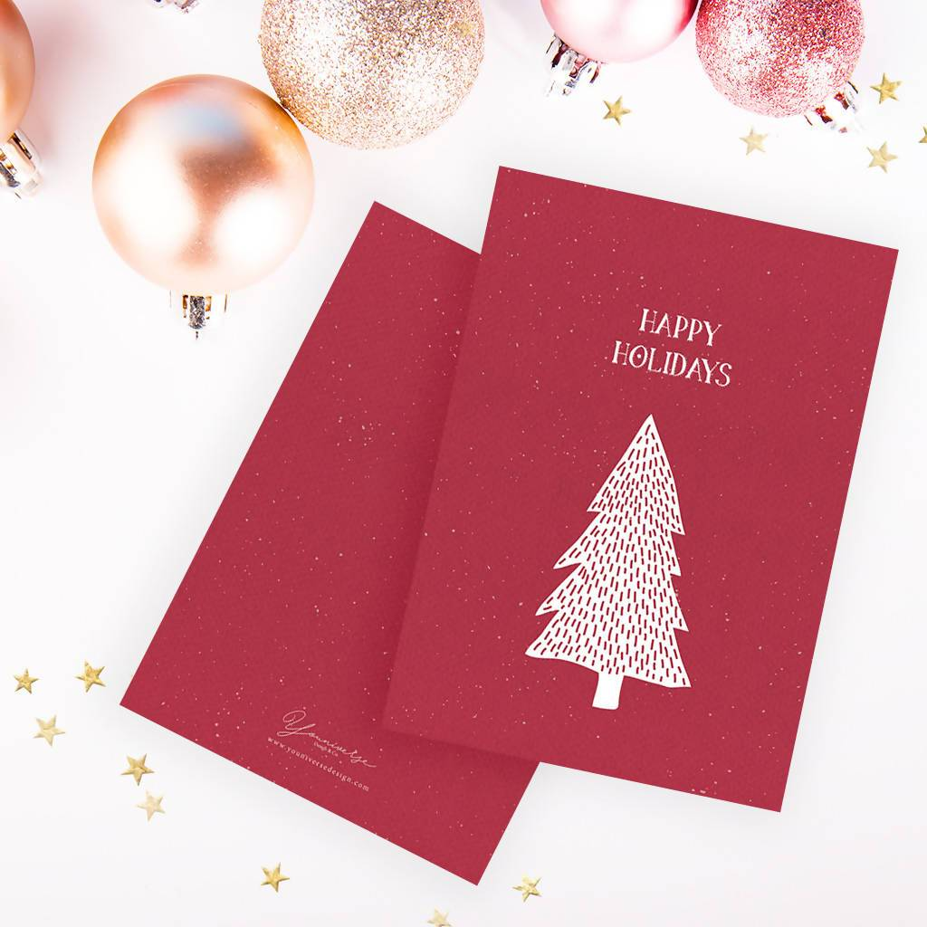 Christmas (Red Tree) Card - Christmas Cards - YOUNIVERSE DESIGN - Naiise