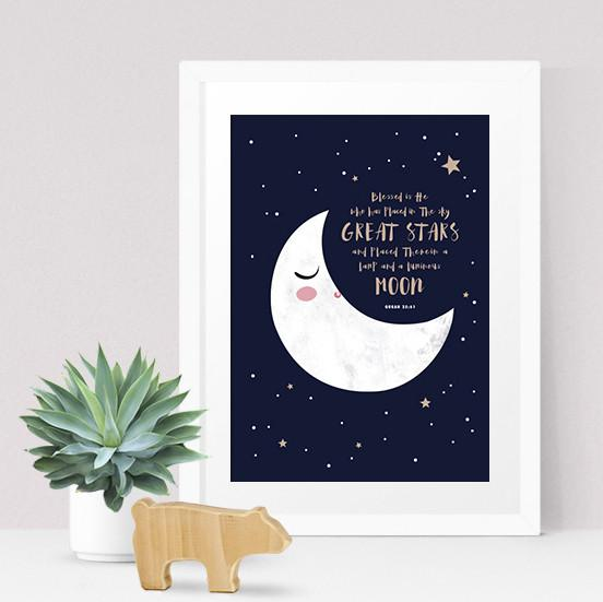 Quran Quote Print – Moon - Kids Prints - Poppetry - Naiise
