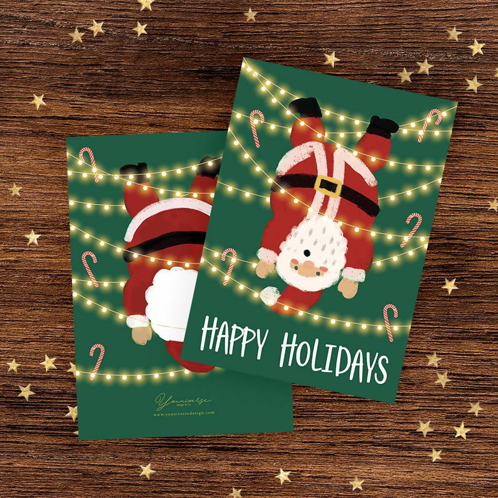 Happy Holidays (Santa) Christmas Card - Christmas Cards - YOUNIVERSE DESIGN - Naiise