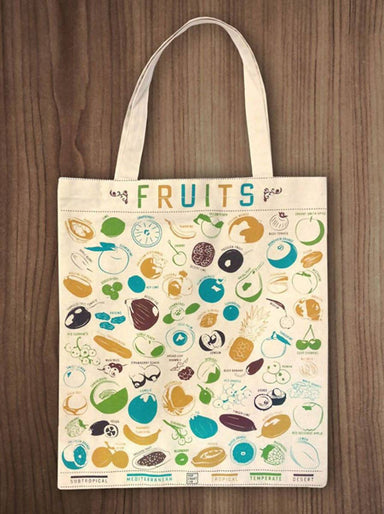 Pop Chart Lab - Fruits and Vegetables Tote Bag - Tote Bags - The Planet Collection - Naiise