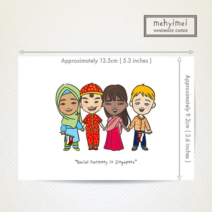 Racial Harmony Card - Local Greeting Cards - mehyimei - Naiise