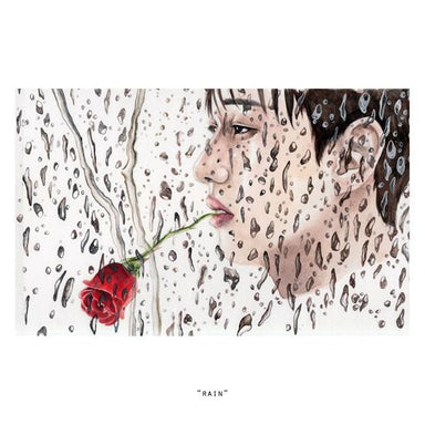 Rain Mini Art Print - Naiise