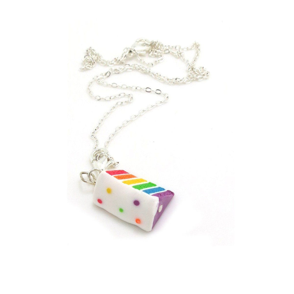 Rainbow Cake Necklace Local Necklaces thepigbakesclay
