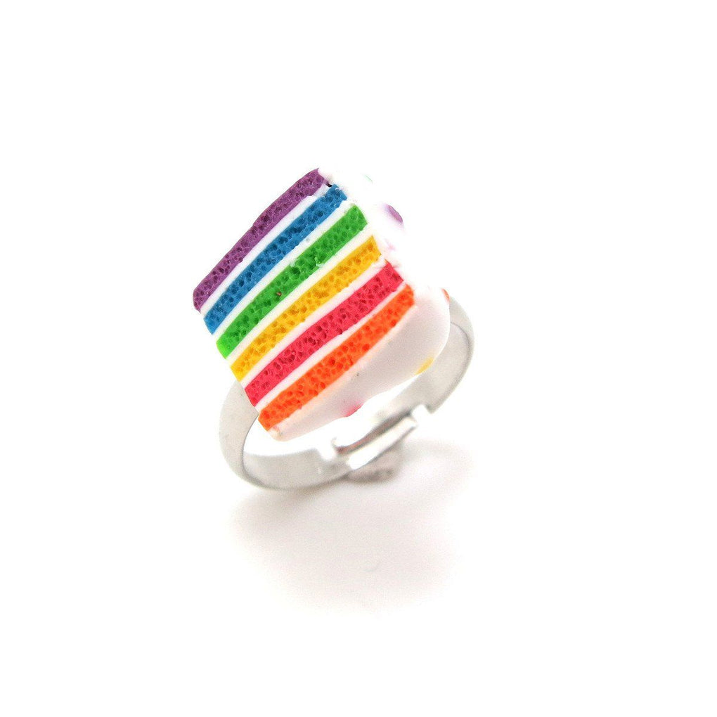 Rainbow Cake Ring Local Rings thepigbakesclay