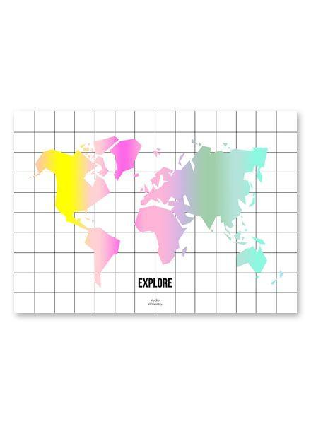 Rainbow Map Poster - Maps - Studio Stationery - Naiise