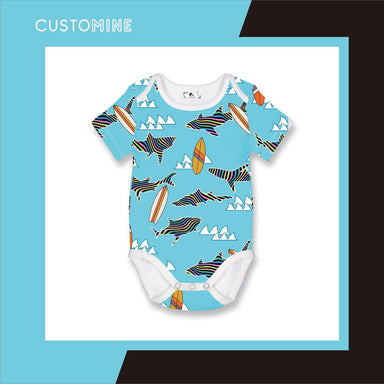 Rainbow Shark Romper (Pre-Order) - Local Baby Clothing - CUSTOMINE - Naiise