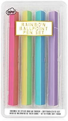 Rainbow Soft Touch Pens Novelty Gifts NPW
