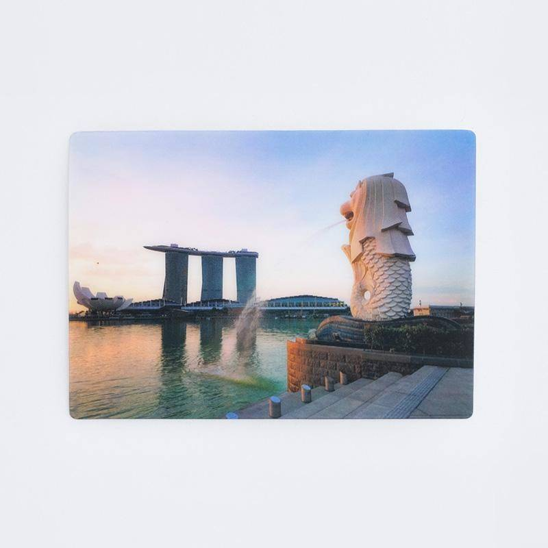 Red Republic Merlion Lenticular Postcard - Local Postcards - Ok Can Lah - Naiise