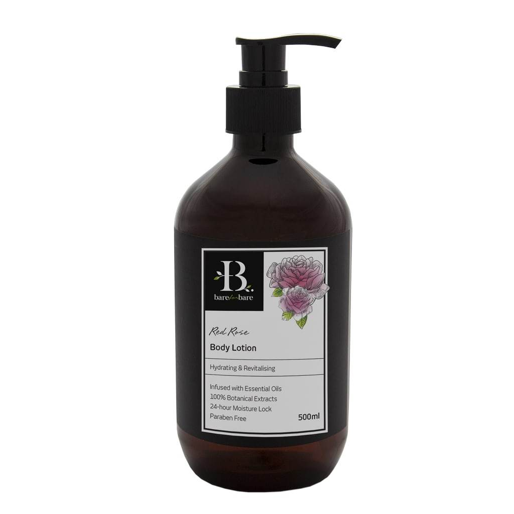 Red Rose Body Lotion - Body Lotions - Bare for Bare - Naiise
