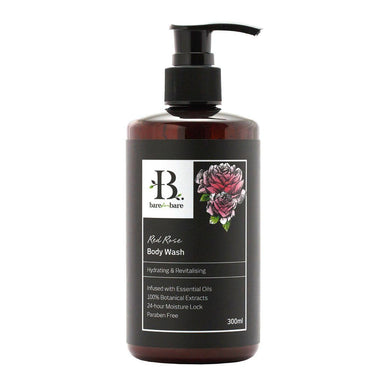 Red Rose Body Wash Soaps Bare for Bare 300ml