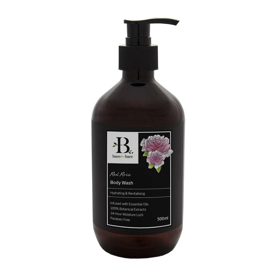 Red Rose Body Wash Soaps Bare for Bare 500ml