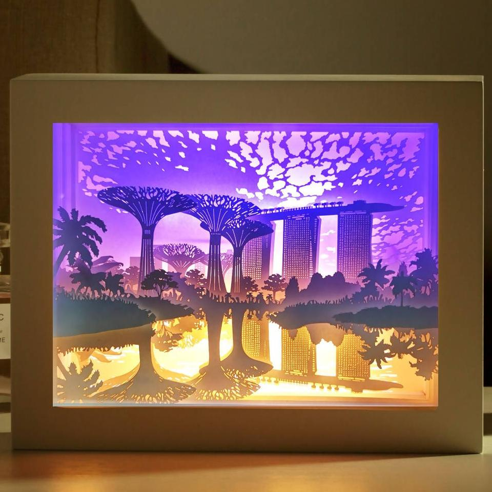 Reflections At The Garden - Lighted Paper Frame - DIY Crafts - Blue Stone Craft - Naiise