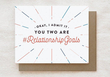 #RelationshipGoals - Engagement, Wedding Greeting Card - Wedding Milestone Cards - Quirky Paper Co. - Naiise