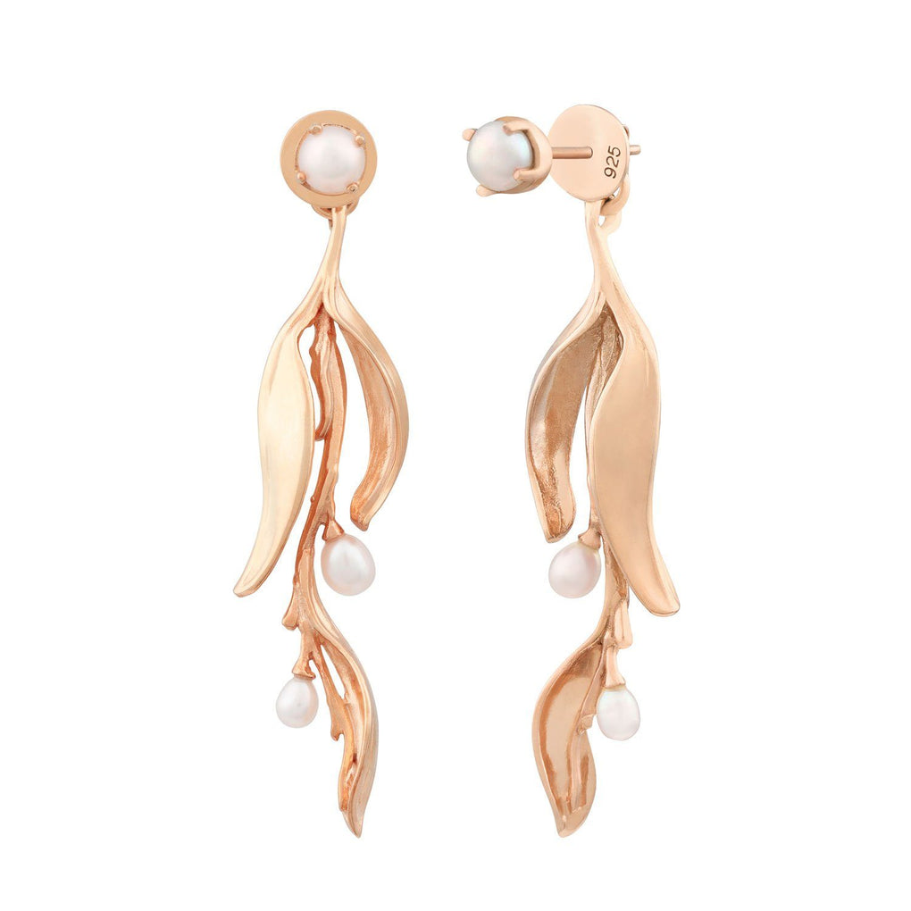 Reminisce Orchid Bud Earrings Earrings [in]TRIGUE Rose Gold