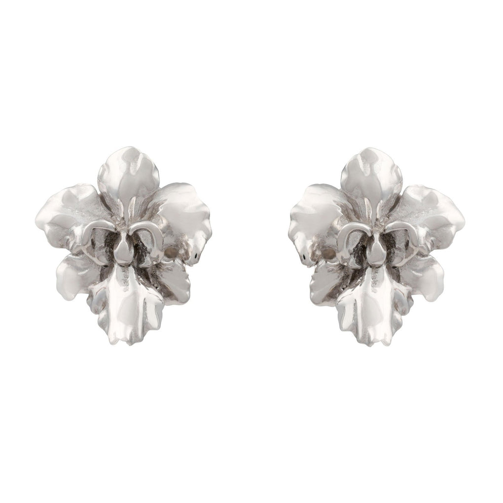 Reminisce Orchid Stud Earrings Earrings [in]TRIGUE Rhodium