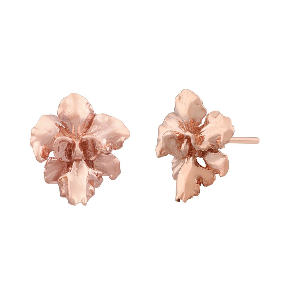 Reminisce Orchid Stud Earrings Earrings [in]TRIGUE Rose Gold