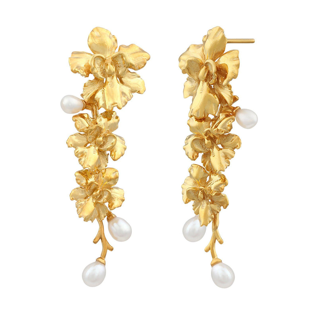 Reminisce Orchid Trio Earrings Earrings [in]TRIGUE