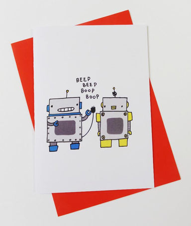 Robots - Love Card Love Cards Steak & Eggs Please
