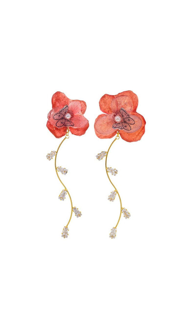 Romance Earrings - Cherry Earrings Blaack Fox