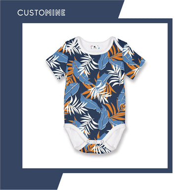 Romper Bali Bohemian Local Baby Clothing CUSTOMINE 0-3M Sky Blue
