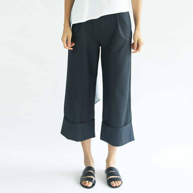 Rosenburg Wide Leg Trousers in Forest Green Women's Pants Salient Label