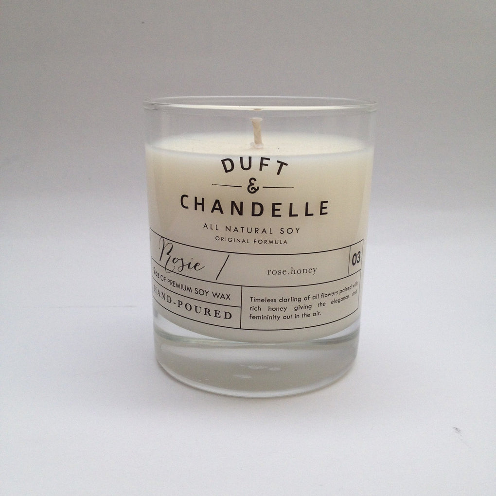Rosie Candle Scented Candles Duft and Chandelle