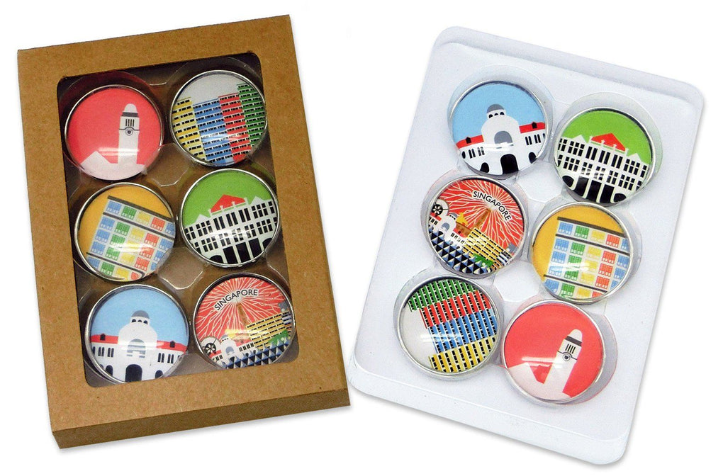 Round Iconic Architecture Magnet Local Magnets Now&Then