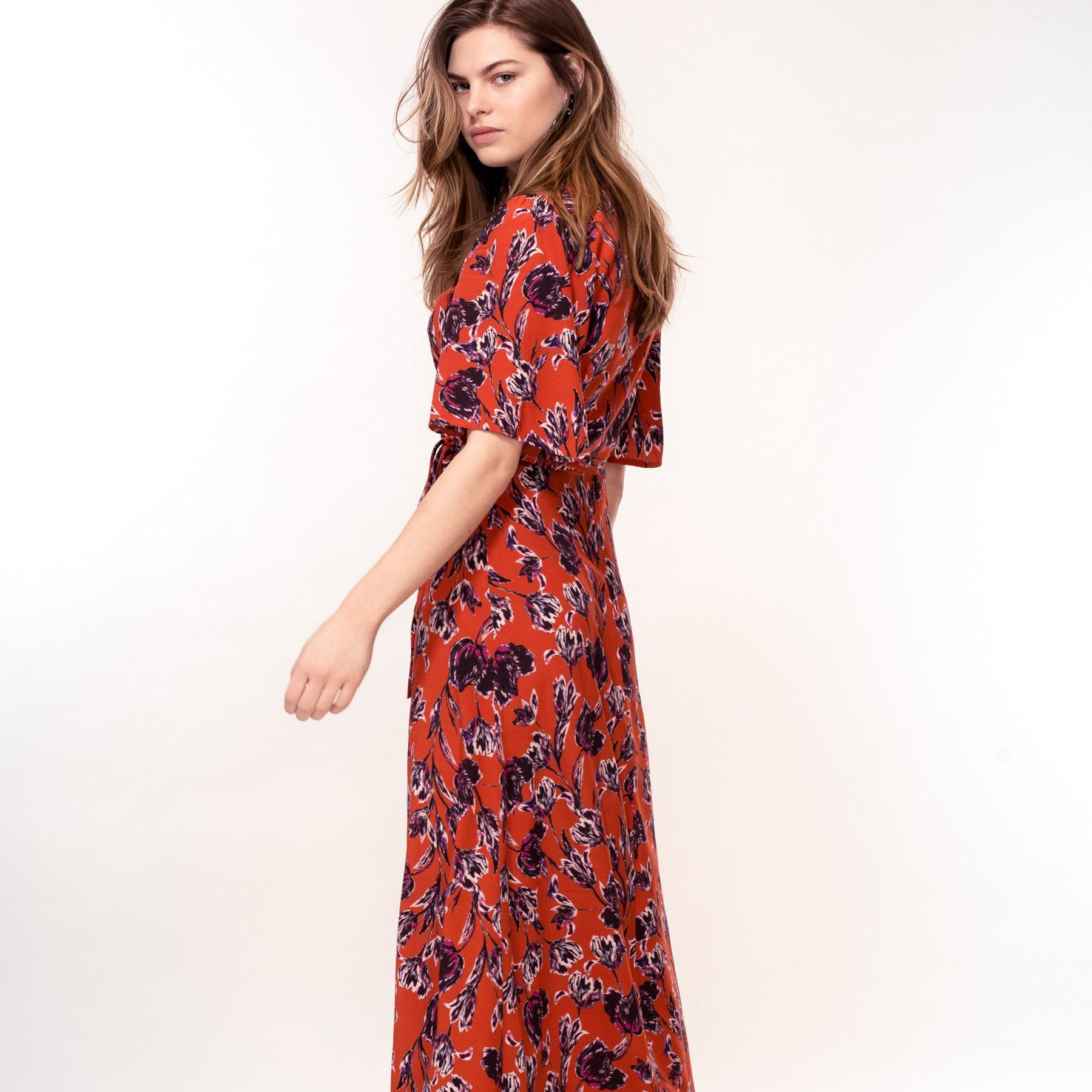 Rust Tulip Print Dress (Pre-Order) - Dresses - Hide The Label - Naiise