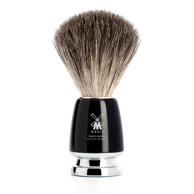 Rytmo shaving brush, black resin and pure badger hair - Shaving Brush - MÜHLE Singapore - Naiise