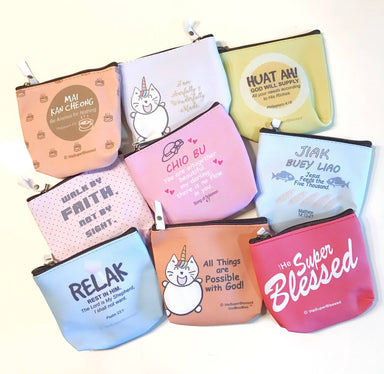 Walk by Faith Not by Sight PU Coin Pouch - Coin Pouches - The Super Blessed - Naiise