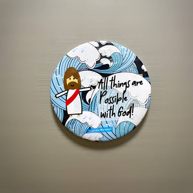 Magnet Blue Waves - All Things Are Possible With God - Magnets - The Super Blessed - Naiise