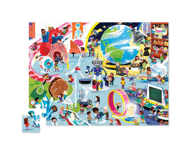 48-pc Puzzle Day at the Museum - Science - Kids Puzzles - The Children's Showcase - Naiise