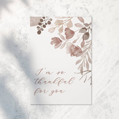 So Thankful for You | Greeting Card - Thank You Cards - Papercranes Design - Naiise