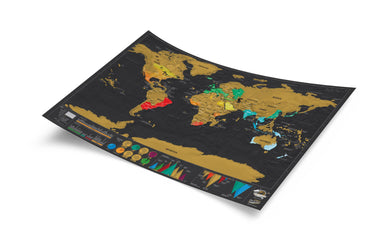Scratch map - Deluxe Travel edition - Scratch Maps - The Planet Collection - Naiise