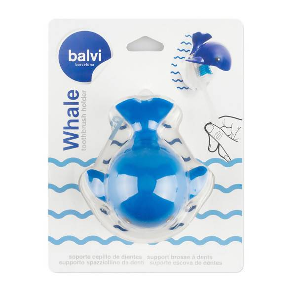 Balvi - Toothbrush Holder Whale Adhesive - Toothbrush Holder - The Planet Collection - Naiise