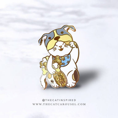 Fortune Cat Pin - Dog - Brooches - The Cat Inspired - Naiise