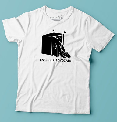 Safe Sex Advocate T-shirt - T-shirts - Cerealbox Shop - Naiise