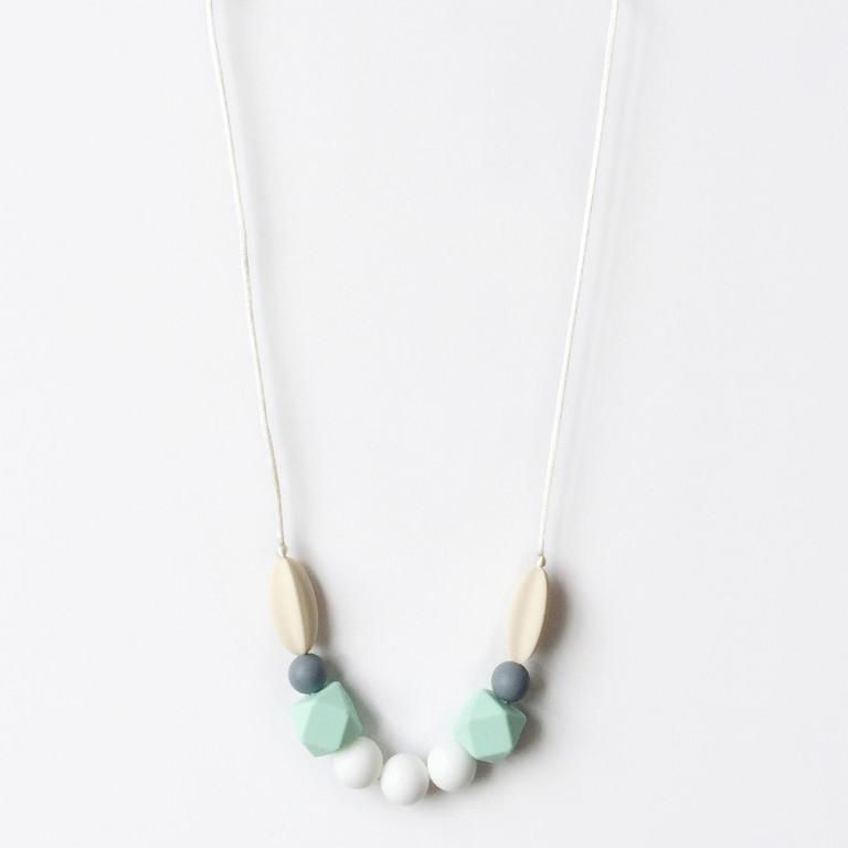 Sage Silicone Necklace - Mint Necklaces Anders & Dawn