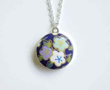 Sakura Miyuki Handmade Fabric Button Necklace - Necklaces - Paperdaise Accessories - Naiise