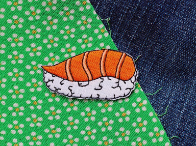 Salmon Sushi Sticker Patch - Sticker Patches - Pew Pew Patches - Naiise