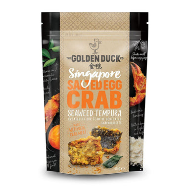 Salted Egg Crab Seaweed Tempura Local Snacks The Golden Duck Co