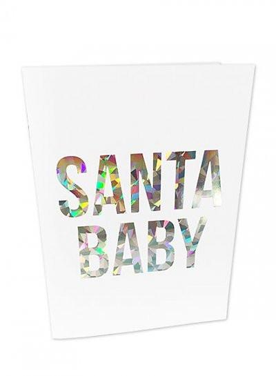 Santa Baby Holographic Greeting Card - Christmas Cards - Studio Stationery - Naiise