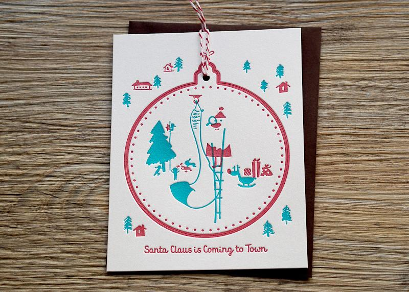 Santa Claus Is Coming To Town Christmas Card - Christmas Cards - ditto ditto - Naiise