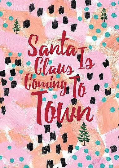 Santa Claus Is Coming To Town Greeting Card Christmas Cards The Paper Happiness