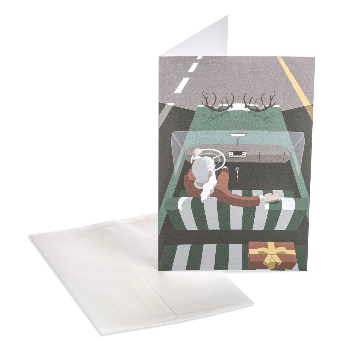 Santa's Car Greeting Card - Christmas Cards - MULTIFOLIA ATELIER di Rita Girola - Naiise