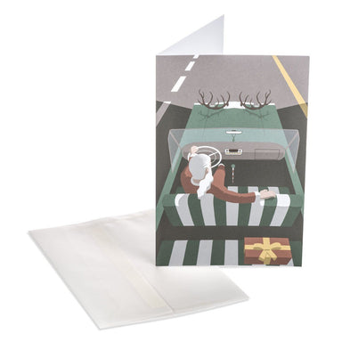 Santa's Car Greeting Card Christmas Cards MULTIFOLIA ATELIER di Rita Girola